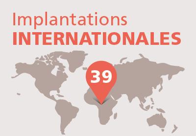 Implantations internationales