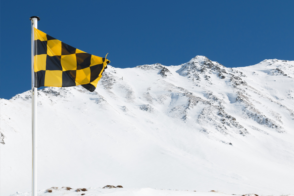 Avalanche risk signage pictograms to replace flags