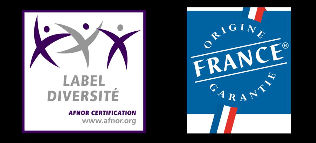 Labels Diversité et Origine France Garantie