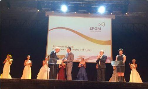 Remise du prix européen de l'excellence en management pour l'aéroport de Lyon