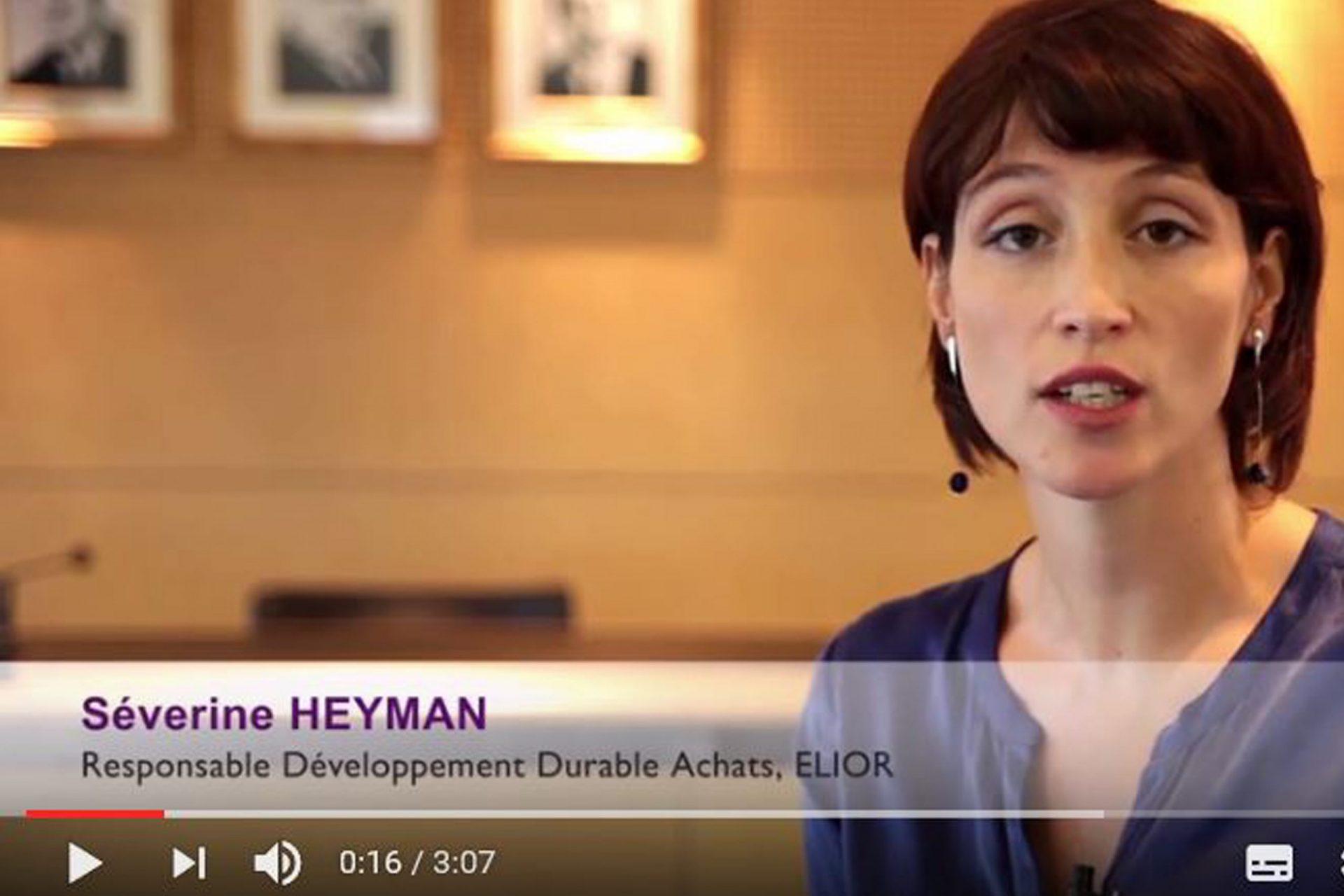 Vidéo Séverine Heyman - responsable développement durable achats