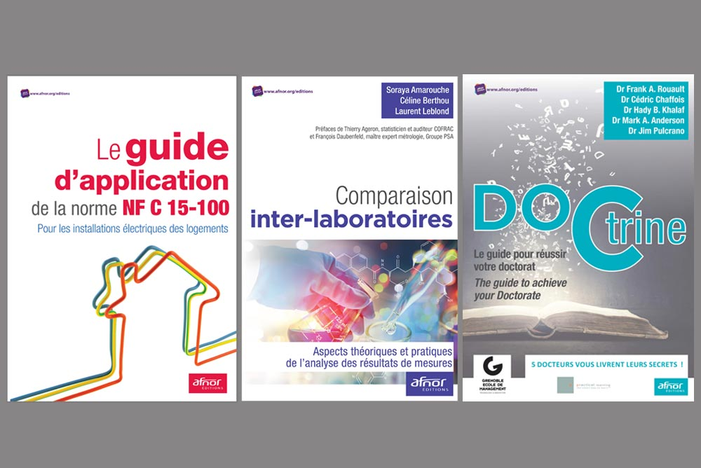 Les trois livres publiés en février par AFNOR Editions