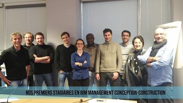 Stagiaires en bim management conception-construction