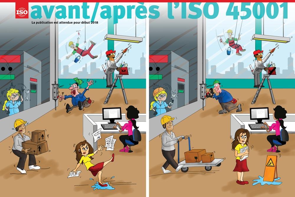 Avant/Après l'ISO 45001 -Santé et sécurité au travail