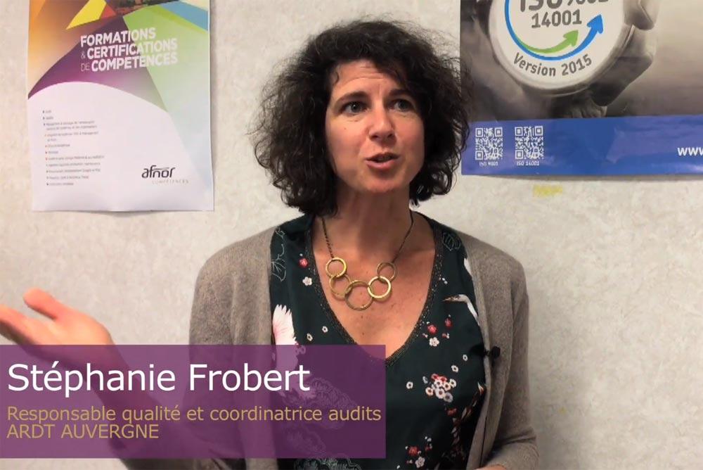 Stéphanie Frobert, responsabilité qualité et coordinatrice audits Auvergne