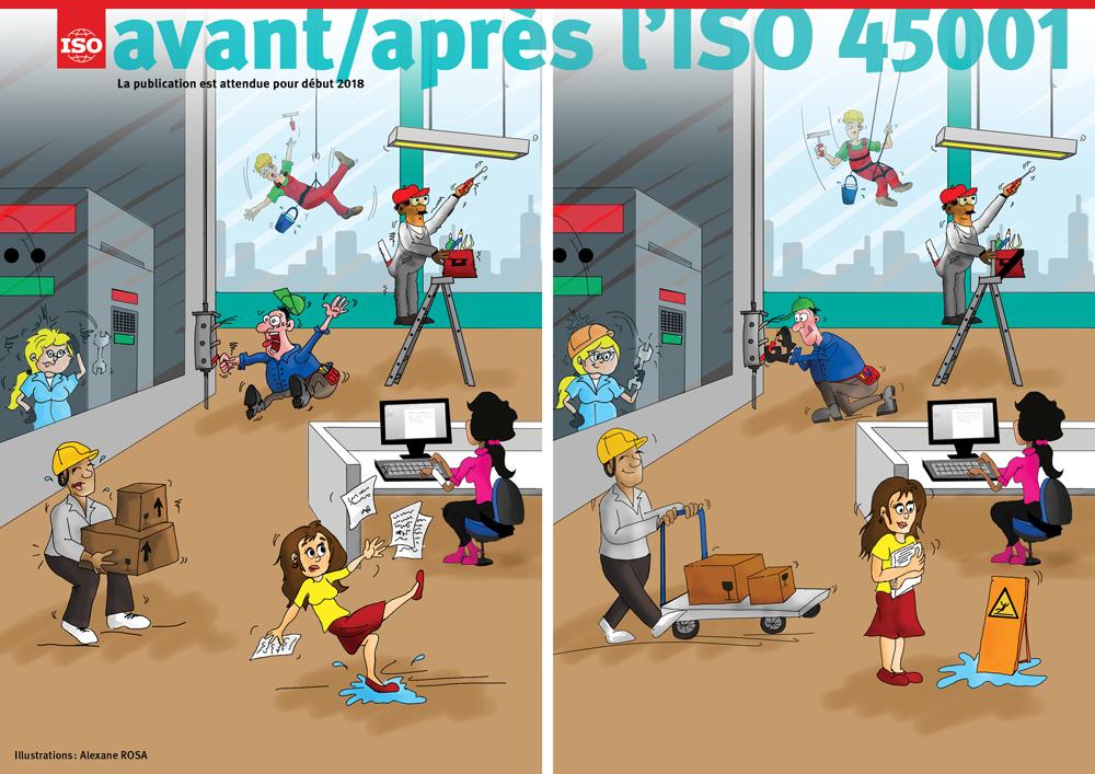 Avant et après l'ISO 45001