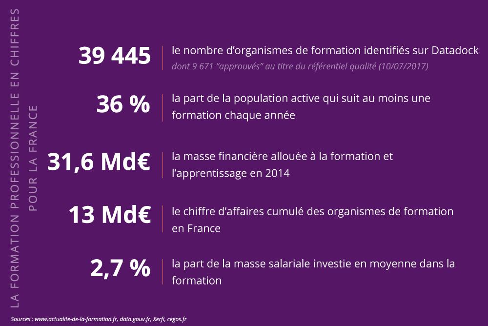 Infographie : la formation professionnelle en chiffres pour la France