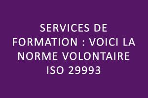 Services de formation : la norme volontaire ISO 29993