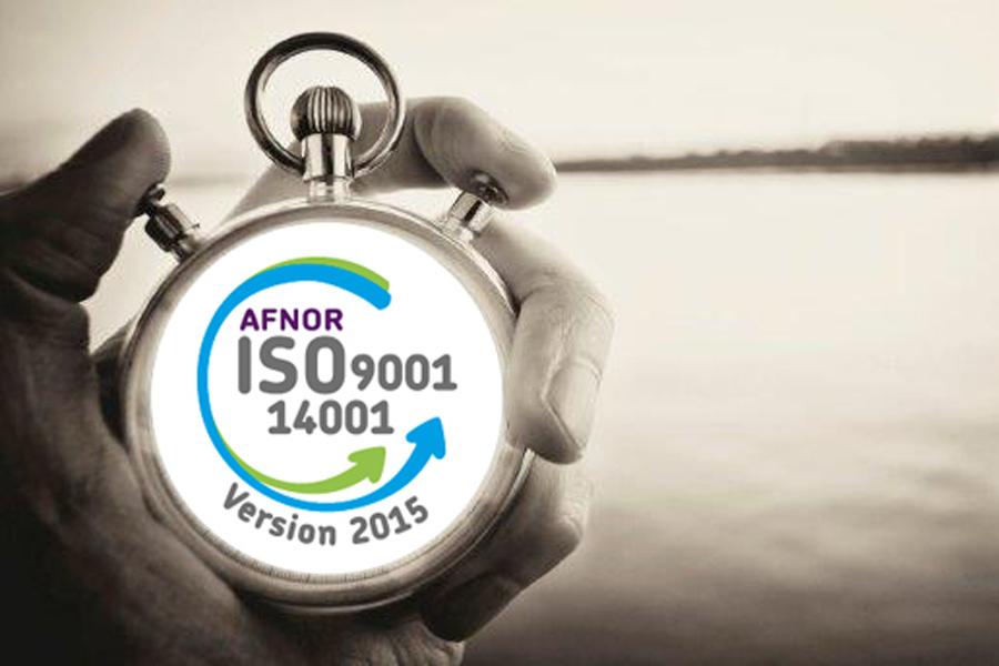 Certification ISO 9001 - Qualité et certification ISO 14001 environnement