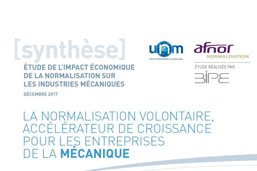 Etude de l'impact économique de la normalisation sur les industries mécaniques