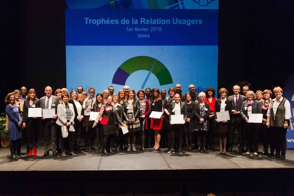 Remise des trophées de la Relation Usagers, le 1er février 2018