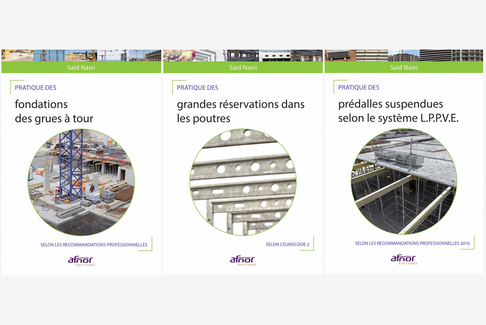 3 ouvrages de Saïd Nasri sur les métiers du bâtiment