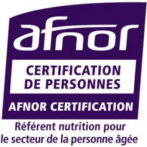 Logo AFNOR Certification - référent nutrition