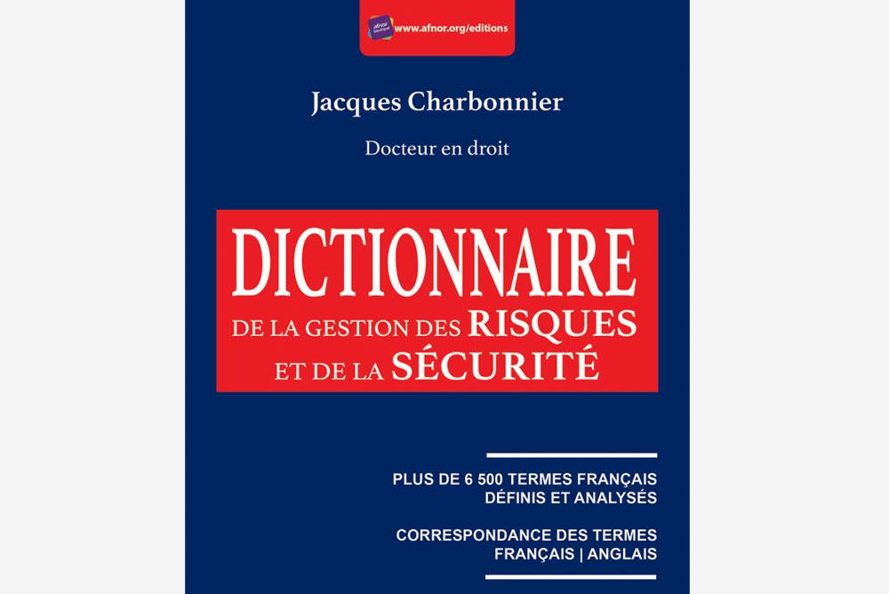 Couverture du dictionnaire de la gestion des risques et de la sécurité