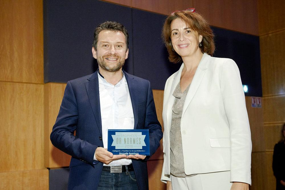 Nomade Aventure lauréat des Trophées Or Normes 2018