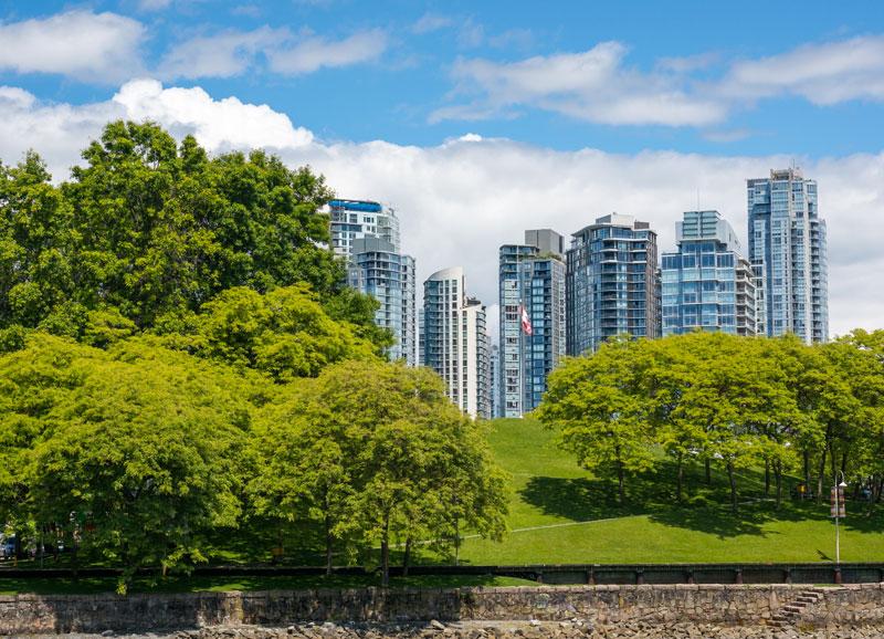 Photo format paysage d'un building