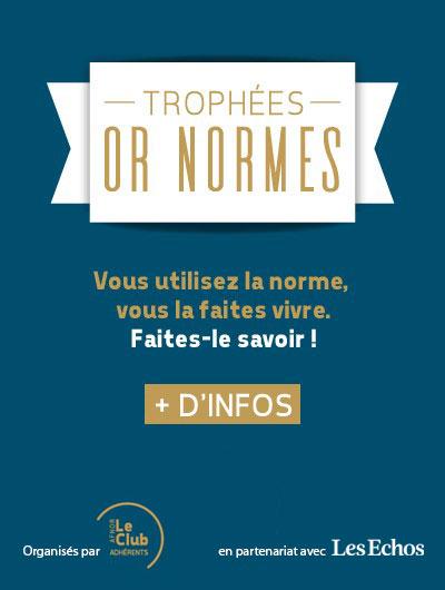 Les trophées Or Normes 2019 organisés par le Club des adhérents en partenariat avec Les Echos