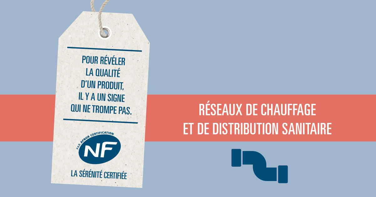 NF 545 - réseaux de chauffage et de distribution sanitaire