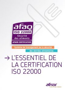 Couverture du guide certification ISO 22000